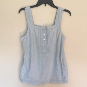 J.crew factory chants tank top with pockets size 2